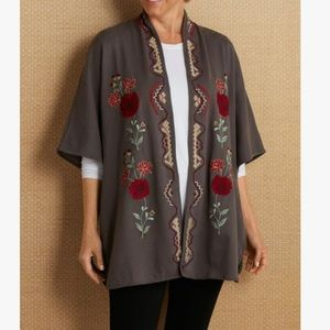 Soft surroundings embroidered poncho